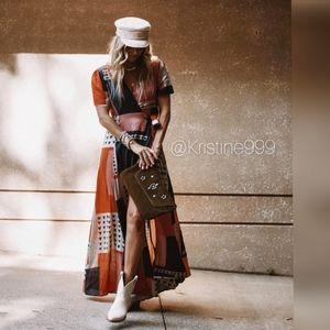Anthropologie The Odells Wrap Maxi Dress